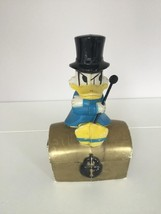 Extremely Rare! Walt Disney Scrooge McDuck On Chest Old Piggy Bank Statue - $91.07
