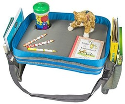 Kids Travel Activity & Snack Tray by On The Go Families - Heavy Duty Sid... - $30.43