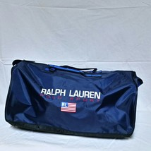 VTG Ralph Lauren Polo Sport Duffle Bag Flag Spell Out 90s Gym Travel Bea... - $89.99
