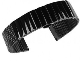 Beauty7 Black 20mm Stainless Steel Link And Mesh Two Tone Watch Band Br... - $41.12