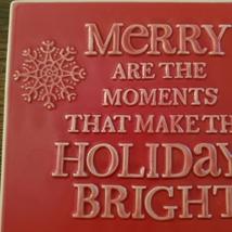 Christmas Trivet, Hallmark decorative tile, red, Merry Moments Holidays Bright image 3