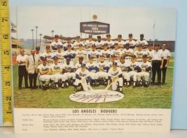 1965 Original Los Angeles Dodgers World Champions Team Photo Autos Back - $14.85