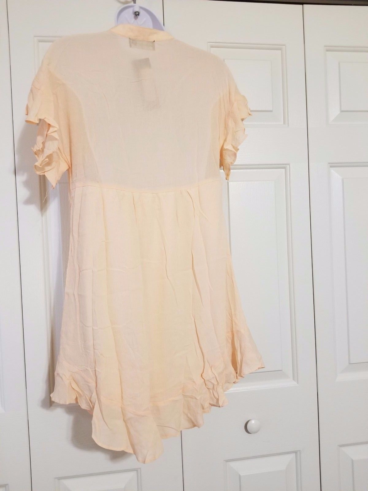 Nasty Gal Pull Some Strings Ruffle Dress Size M NWT