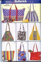 Butterick 5451 1998 AWESOME Carry All Bags, Totes, Handbags - $9.80