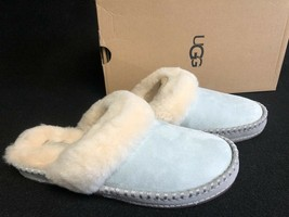 UGG AUSTRALIA SLIPPERS Shoes Slides AIRA Iceberg SUEDE 1007728 Women's s... - £61.85 GBP