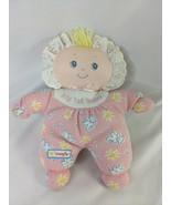 """Evenflo My 1st Baby Doll Pink White Lace Bonnet 8"""" Kids Gifts Stuffed Toy - $29.95"""