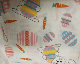 "Peva Tablecloth, 52""x70"" Oblong (4-6 ppl) EASTER JUBILEE, EGGS,BUNNIES &... - $14.84"