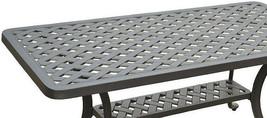 Nassau coffee table patio side outdoor cast aluminum backyard furniture image 2