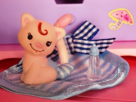 Blue White Cat Toy Blanket Bottle Lot fits Fisher Price Loving Family Do... - $10.99