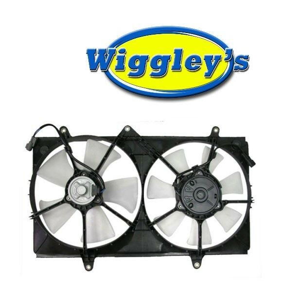 DUAL RADIATOR A/C CONDENSER FAN ASSEMBLY GM3115127 FITS 98 99 00 01 02 PRIZM