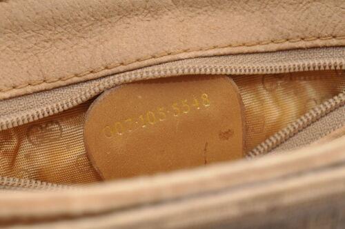 GUCCI GG Canvas Shoulder Bag Brown PVC Leather Auth sa1823 **Powder image 12