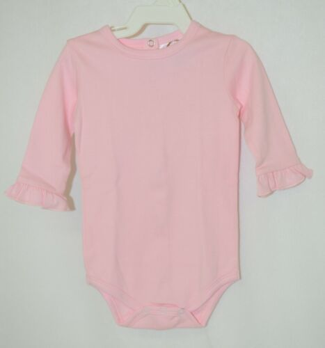 Blanks Boutique Pink Long Sleeve With Ruffle Bodysuit 3 To 6 Months