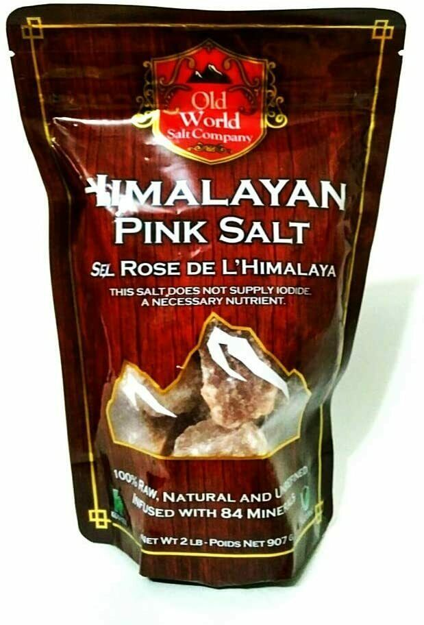 Himalayan Pink Salt 100% Raw, Natural and Unrefined 907g (2 lbs) - $14.73