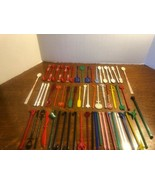 Lot of 60+ Vintage Assorted Cocktail Drink Stir Swizzle Sticks Liquor & ... - $23.74