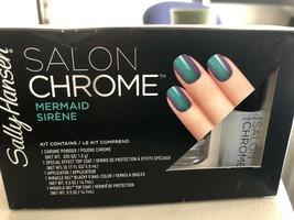 Sally Hansen Salon Chrome 5 Piece Gel Nail Polish Kit Mermaid Sirene - $8.59
