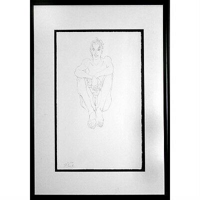 Unbenannt Sitzendem Akt Von Robert Graham 1994 Unterzeichnet Lithographie