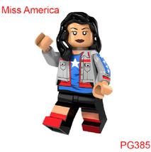 Red Arrow/The Dark Archer/ Super Heroes Building Blocks Miss America - $0.99