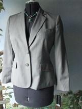Anne Klein Blazer Women Pinstripe Gray Career Blazer Suit Jacket 8 Petit... - $64.34