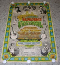 Doc Watson Merle Travis Golden State Country Bluegrass Festival Poster 1974 - $999.99