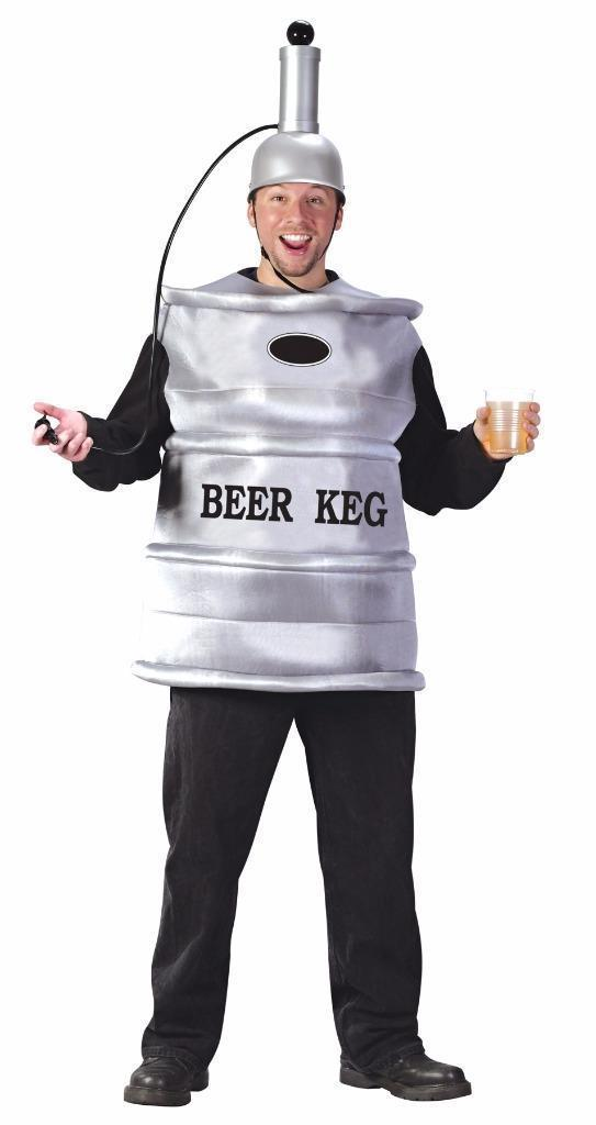 Beer Keg Costume Adult Alcohol Halloween Party Unique Cheap FW5446