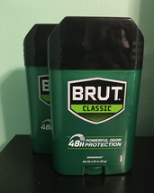Brut Classic 48 HR. Powerful Protection Deodorant Lot Of (2) - $7.70