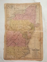 1839 antique MAP of MIDDLE STATES and PART OF SOUTHERN mitchell's atlas US  - $28.95