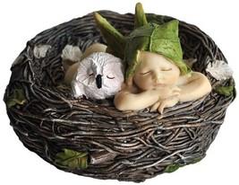 Top Collection Miniature Fairy Garden and Terrarium Sleeping Fairy Baby ... - $25.30