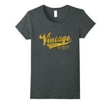 Vintage Est 1977 T-Shirt 40 yrs old B-day 40th Birthday Gift Women - $19.95+