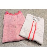 Girl's J. Crew Crewcuts 100% Cotton Color Block Cardigan (White/Gray/Pin... - $14.96
