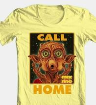 Mac and Me T-shirt Phone Home retro 80s 90s movie cotton yellow graphic tee image 1