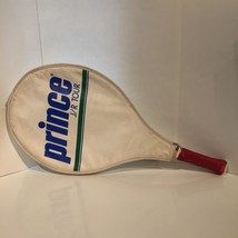 Prince J/R Racket Mini & JR Tour Bag Case 1980s Vtg Used Red Blue Yellow - $37.40