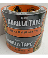 "2x Gorilla Duct Tape Black Repair Heavy Duty Double Thick Outdoor 1.88""X... - $18.37"