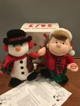 RARE AVON KIDS Sing Along Snow Pals Set Animated Synchronizing Singing  Snowman - $74.25