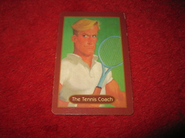 1993 - 13 Dead End Drive Board Game Piece: The Tennis Coach Portrait Card - $1.00