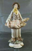 Estatuilla De Porcelana Capodimonte Gino Brindle Panadero Figurilla Vint... - $264.08