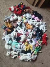 TY Beanie Babies NOT MINT assorted LOT mix 50 cat dog bear animals Lot #9 - $24.75