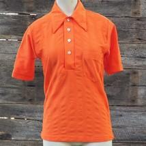 Vintage Campus Ultra Strick Damen Polyester Orange Bluse Hemd GRÖSSE S - $38.81
