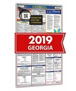 2019 Georgia Spanish All in One Labor Law Posters for Workplace Compliance - $28.34