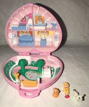 Polly Pocket Country Cottage 1989 Pink Heart Compact Vintage COMPLETE - $45.99