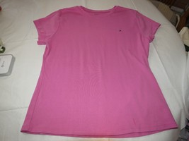 Tommy Hilfiger pink **no size tag** womens cotton t shirt GUC pre owned - $17.22