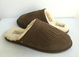 Ugg Amarina Dark Chestnut Fringe Shearling Line Slipper Us 10 / Eu 41 / Uk 8 - $73.87