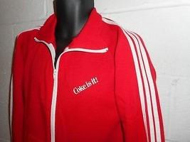Vintage 70s Coca Cola Coke is It Zip Up 3 Stripe Sweatshirt Medium - $79.99