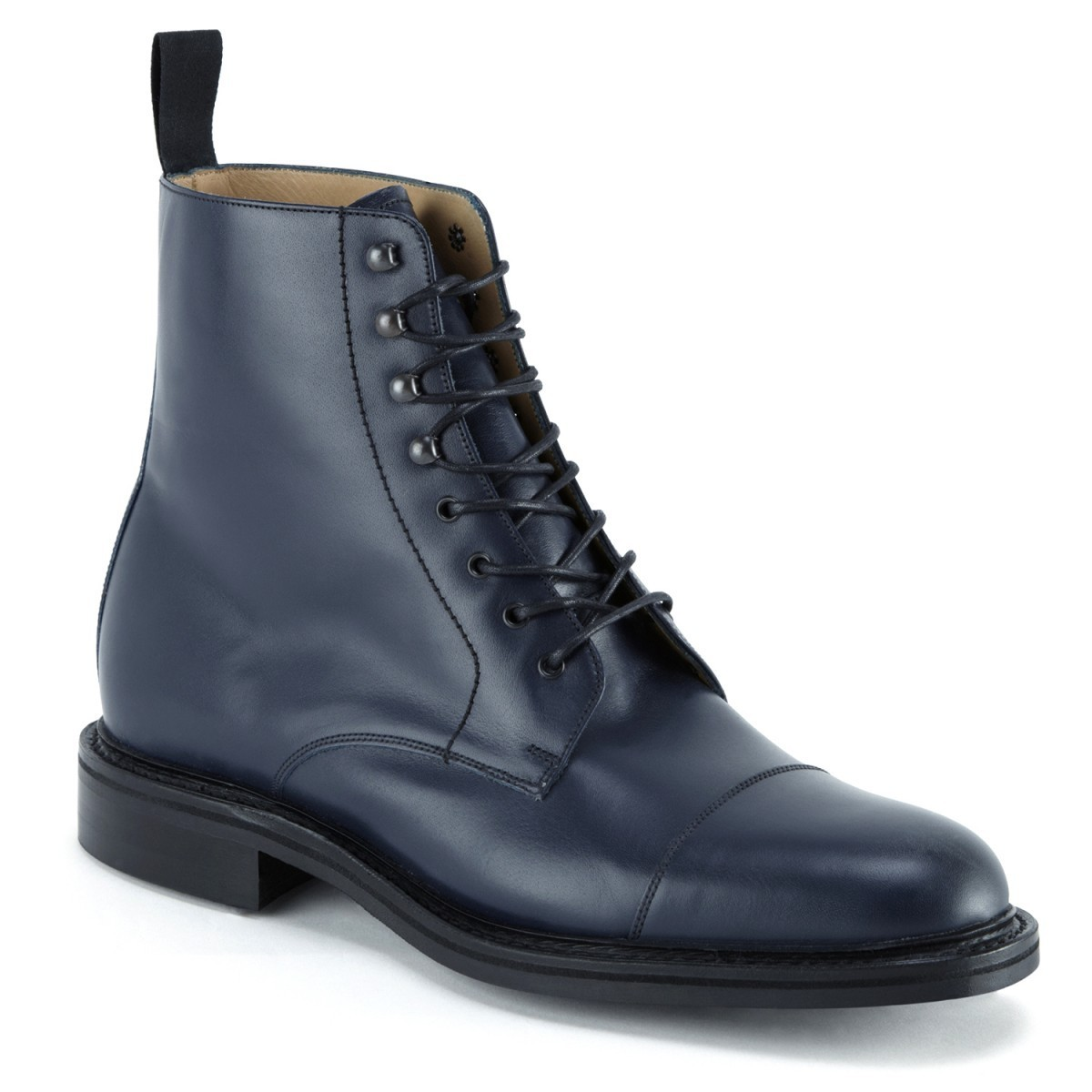 Handmade Mens ankle leather boots, Men navy blue leather ...