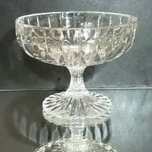 "1 (One) MIKASA PARK LANE Cut Lead Crystal Compote Height: 4 1/8"" DISCONT... - $28.49"