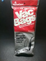 Vacuum Cleaner Bags HOOVER UPRIGHT TYPE C  NO.18 NEW 4 bags  made in USA - $5.25