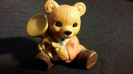 """Band Teddy Bear Porcelain Figurine """"Horn Bear"""" HOMCO - $10.00"""