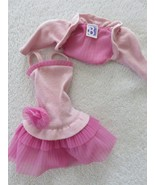 Vintage 80s Genuine Barbie Fashion Pink Sleeveless Dress Matching Bolero... - $23.71