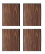 "Pack of 4 Walnut Finish w/Black Trim Blank Wood Plaque 5"" x 7"" Only $5.9... - $23.80"