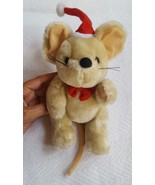 Christmas Mouse Santa Claus Holiday plush toy pre-owned for decoration o... - $13.89