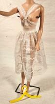 Vtg 1961 64 Mattel Barbie White Lacey Overdress Orange Blossom #987 LT4 - $34.64